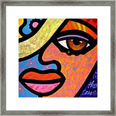 Sweet City Woman Framed Print