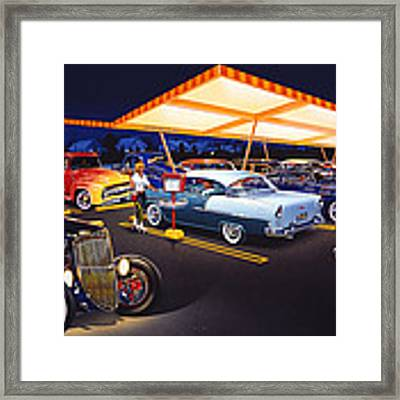 Teds Drive-in Framed Print by MGL Meiklejohn Graphics Licensing