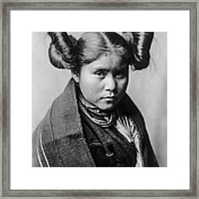 Tewa Girl Framed Print by Aged Pixel