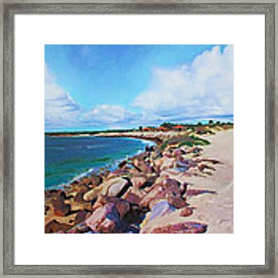 The Beach At Ponce Inlet Framed Print by Deborah Boyd