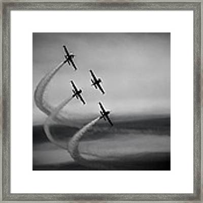 The Blades In Formation Sunderland Air Show 2014 Framed Print by Scott Lyons