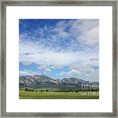 The Flatirons In Spring Framed Print by Kate Avery