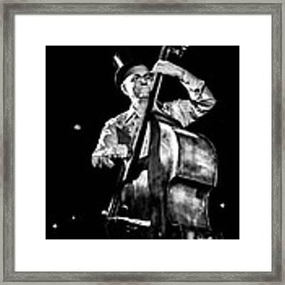 The Old Contrabass Player Framed Print by Stwayne Keubrick