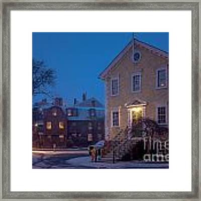 The Old Town House Framed Print by Susan Cole Kelly