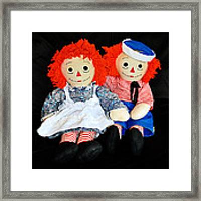 The Raggedy Twins Framed Print by Donna Proctor