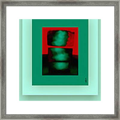 The Red Shine Framed Print by Mihaela Stancu