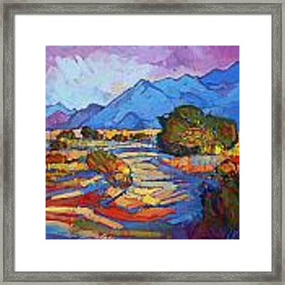 Through The Blue Framed Print by Erin Hanson