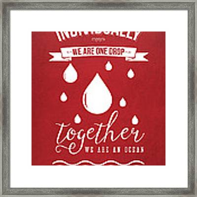 Together We Are An Ocean - Red Framed Print by Aged Pixel