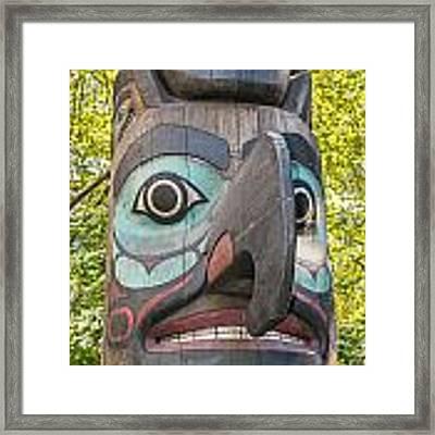 Totem Pole In Seattle  Framed Print by Bryan Mullennix