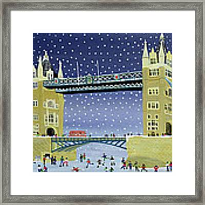 Tower Bridge Skating On Thin Ice Framed Print