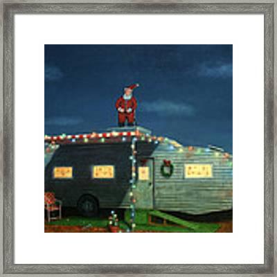 Trailer House Christmas Framed Print