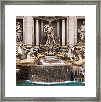 Trevi Fountain Framed Print by John Wadleigh
