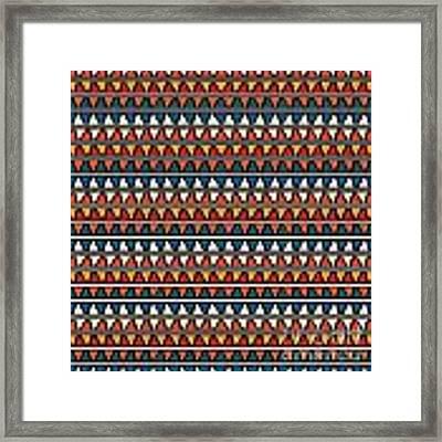 Triangle Seamless Tile Pattern Framed Print