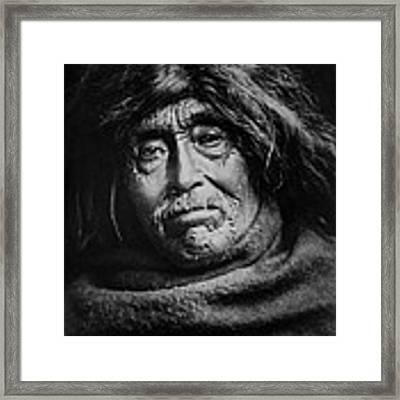 Tsawatenok Indian Man Circa 1914 Framed Print by Aged Pixel