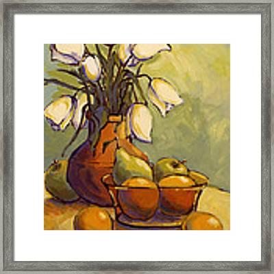 Tulips 1 Framed Print by Konnie Kim