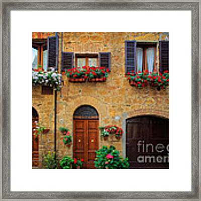 Tuscan Homes Framed Print