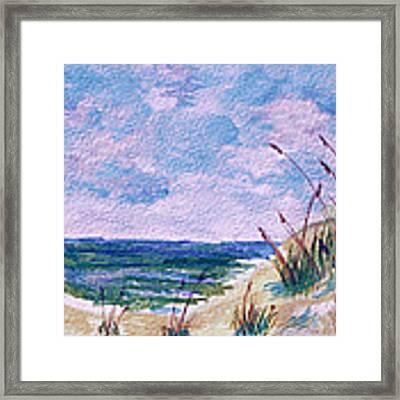 Twilight Beach Framed Print by Donna Proctor