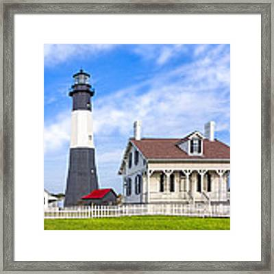 Tybee Island Lighthouse At Dawn Framed Print by Mark E Tisdale