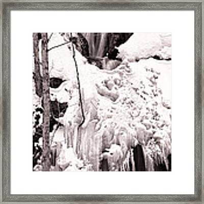 Veiled Falls Framed Print by Brad Brizek