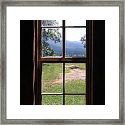 View From The Cabin Framed Print by Todd Blanchard
