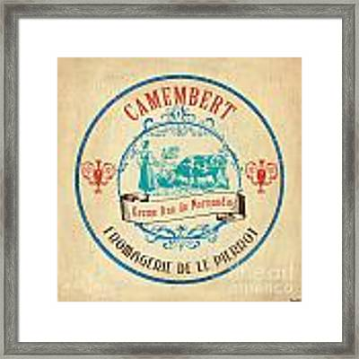 Vintage Cheese Label 3 Framed Print