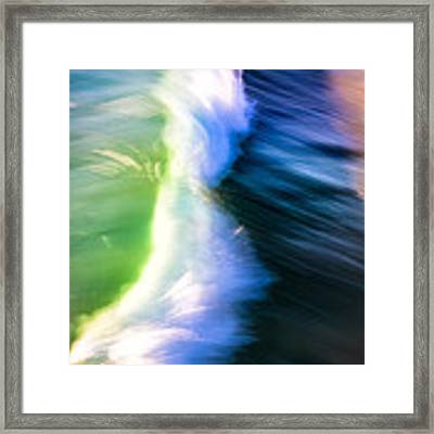 Wave Abstract Triptych 2 Framed Print by Brad Brizek