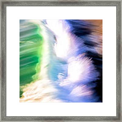 Wave Abstract Triptych 3 Framed Print by Brad Brizek