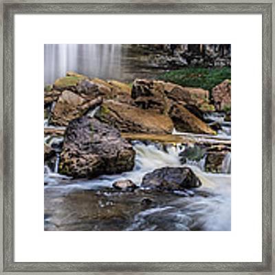 Webster Falls Framed Print by Garvin Hunter