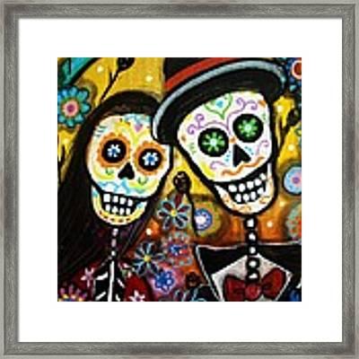 Wedding Dia De Los Muertos Framed Print