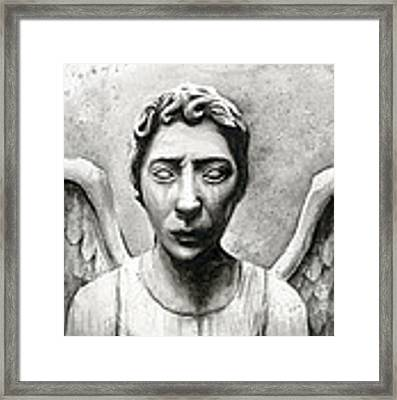 Weeping Angel Don't Blink Doctor Who Fan Art Framed Print