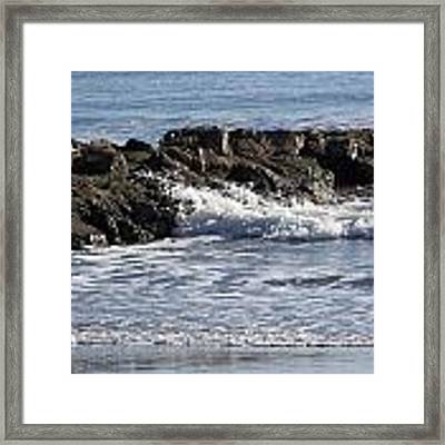 Wet Rocks Framed Print by Ralph Jones