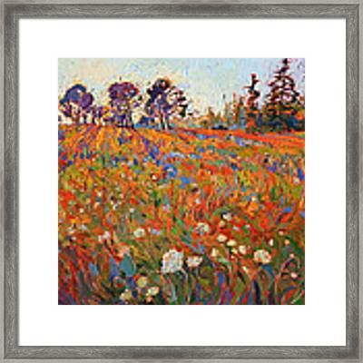 Wild In Flower Framed Print by Erin Hanson