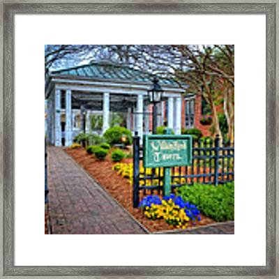 William Rand Tavern At Smithfield Inn Framed Print by Williams-Cairns Photography LLC