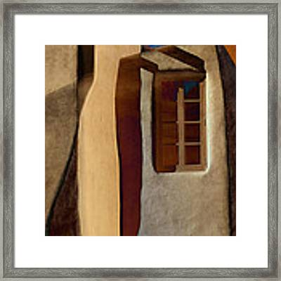 Window De Santa Fe Framed Print