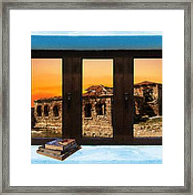 Window Into Greece 5 Framed Print by Eric Kempson