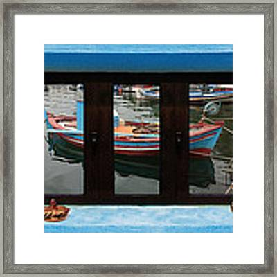 Window Into Greece 6 Framed Print by Eric Kempson