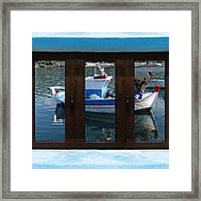 Window Into Greece 7 Framed Print by Eric Kempson