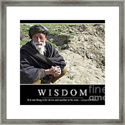 Wisdom Inspirational Quote Framed Print by Stocktrek Images