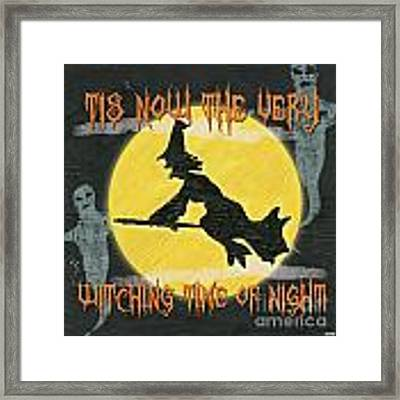 Witching Time Framed Print