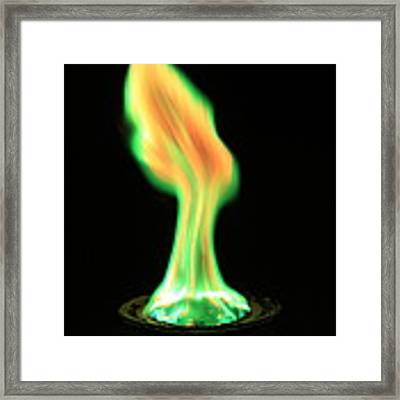 Copperii Chloride Flame Test Framed Print
