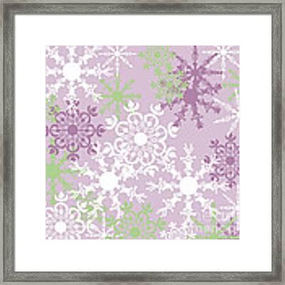 Snowflakes Framed Print
