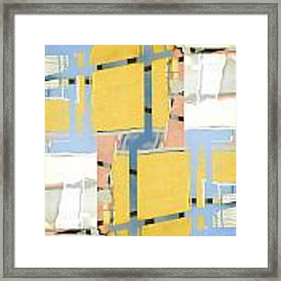 Urban Abstract San Diego Framed Print
