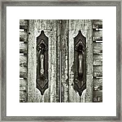 Shutters Framed Print