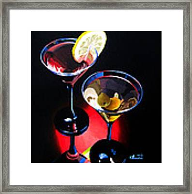 A Hint Of Lemon And Olives Framed Print