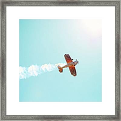 Aerobatic Biplane Inverted Framed Print by Kim Fearheiley
