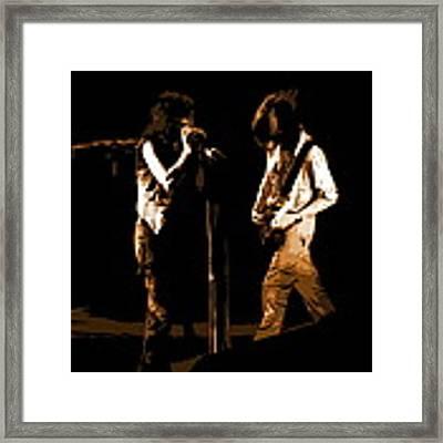 Aerosmith In Spokane 29b Framed Print by Ben Upham