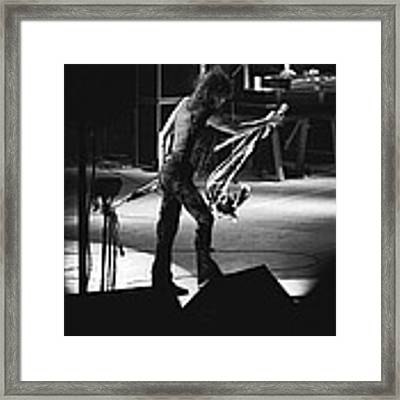 Aerosmith In Spokane 35 Framed Print by Ben Upham