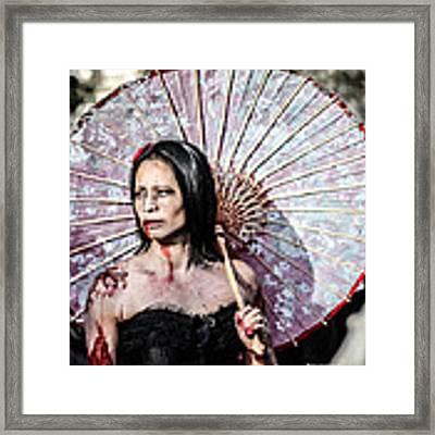 An Asian Zombie Framed Print by Stwayne Keubrick