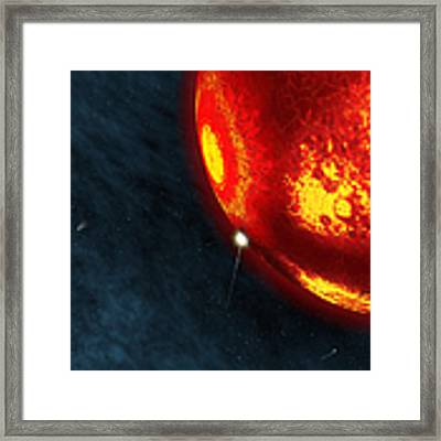 Artists Concept Of An Early Earth Framed Print by Walter Myers