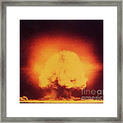 Atomic Bomb Explosion Framed Print